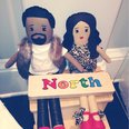 Kim Kardashian and Kanye West dolls