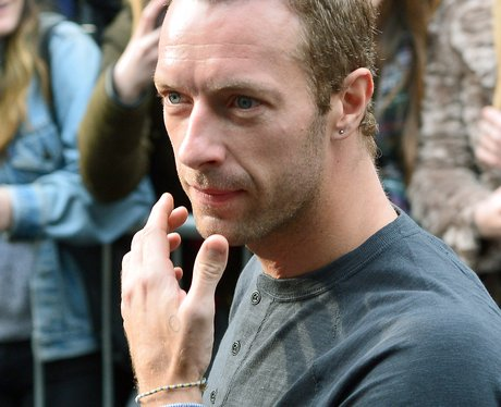Chris Martin arrives for recording for Band Aid 30