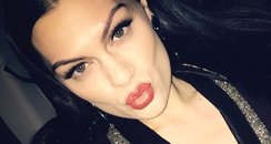 Jessie J faux fur and Gucci in this Instagram pic