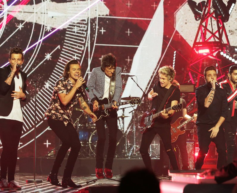 One Direction and Ronnie Wood X Factor