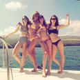 Taylor Swift and Haim wearing Bikinis