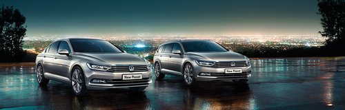 Sinclair Volkswagen Passat car with background