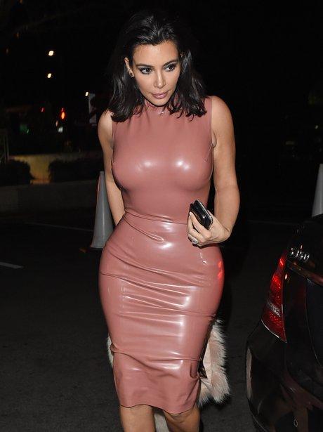 Kim Kardashian Rubber Dress