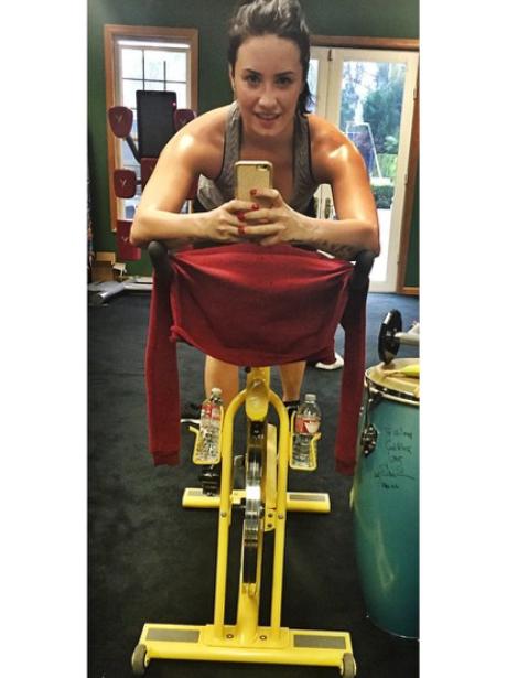 Demi Lovato in the gym