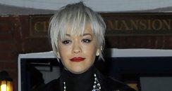 Rita Ora Stripey Trousers