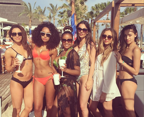 Little mix s jade thirlwall and leigh anne pinnock pose latest