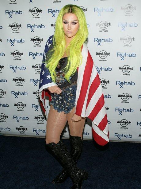 Kesha celebrates the 4th of July