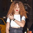Rihanna with curly hair