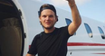 Avicii on a private jet