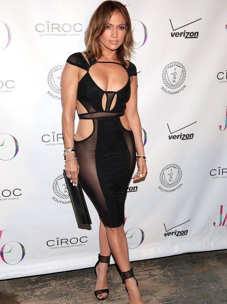 Jennifer Lopez Birthday Revealing Dress