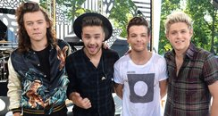 Harry Styles, Liam Payne, Louis Tomlinson and Nia
