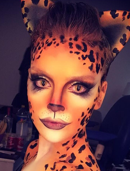 Perrie Edwards Fancy Dress Cheetah