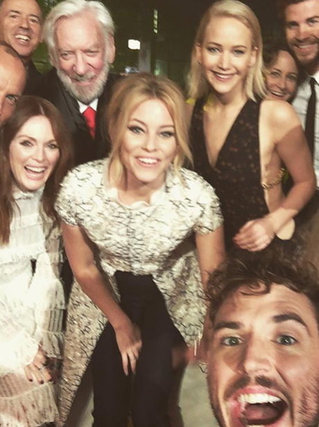 The Hunger Games Cast Selfie