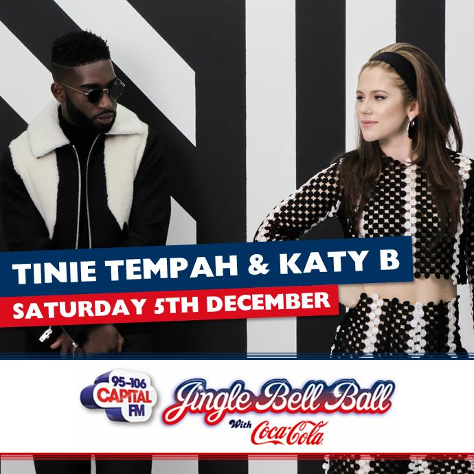 Tinie Tempah Katy B Capital's Jingle Bell Ball