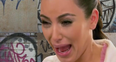 Kim Kardashian Crying At Grafitti