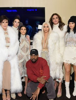 Kim Kardashian and Kanye West and family