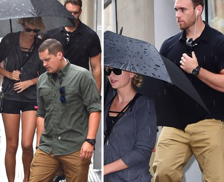 Taylor Swift and hot bodyguards
