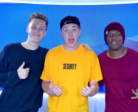 KSI, Caspar Lee and Roman Kemp