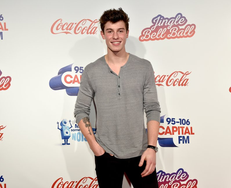 Shawn Mendes Jingle Bell Ball 2016 Red Carpet