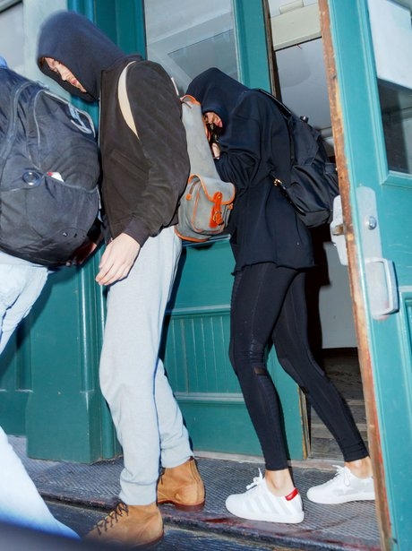 Taylor Swift and boyfriend Joe leave for the gym