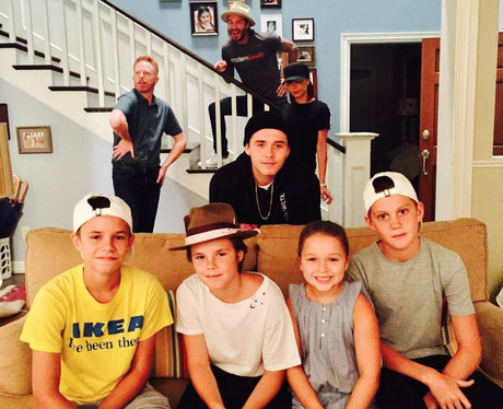 The Beckham's on set of Modern Family